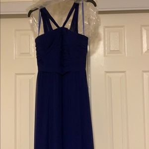 Never been worn royal blue floor length gown!